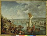 A View of London (oil on copper) Wall Art & Canvas Prints by William Hogarth