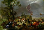 The Battle of Legnano in 1176, 1831 (oil on canvas) Wall Art & Canvas Prints by Massimo Taparelli d' Azeglio