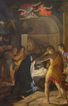 Adoration of the Shepherds, 1584 (oil on canvas) Postcards, Greetings Cards, Art Prints, Canvas, Framed Pictures, T-shirts & Wall Art by Camillo Procaccini