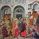 The Massacre of the Innocents (oil on panel) Wall Art & Canvas Prints by Matteo di Giovanni di Bartolo