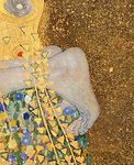 The Kiss, 1907-08 (oil on canvas) (detail of 601) Postcards, Greetings Cards, Art Prints, Canvas, Framed Pictures, T-shirts & Wall Art by Gustav Klimt