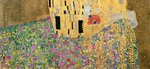 The Kiss, 1907-08 (oil on canvas) (detail of 601) Wall Art & Canvas Prints by Gustav Klimt