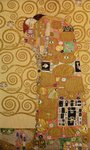 Fulfilment (Stoclet Frieze) c.1905-09 (tempera, w/c) (see 259350 for detail) Postcards, Greetings Cards, Art Prints, Canvas, Framed Pictures, T-shirts & Wall Art by Gustav Klimt