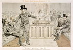 'Come Out of That', Mr Gladstone Returns from the Country, and Finds his Seat Occupied, from 'St. Stephen's Review Presentation Cartoon', 7 August 1886 (colour litho) Wall Art & Canvas Prints by Tom Merry