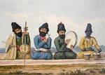 "Persian Musicians from ""A Second Journey through Persia 1810-16"", engraved by Theodore H.A. Fielding (1781-1851), 1818 (engraving) Postcards, Greetings Cards, Art Prints, Canvas, Framed Pictures & Wall Art by August Macke"