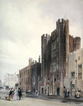 North front to St.James's Palace, c.1850 (colour litho) Wall Art & Canvas Prints by Herbert Warhurst