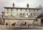 The Old Vine Inn, Aldersgate Street, 1855 (w/c on paper)