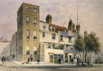 The Old George on Tower Hill (w/c on paper) Postcards, Greetings Cards, Art Prints, Canvas, Framed Pictures, T-shirts & Wall Art by William Hogarth