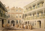 The Bell Inn, Aldersgate Street, 1851 (w/c on paper) Wall Art & Canvas Prints by Thomas Hosmer Shepherd