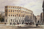New Houses at Entrance of Gresham St, 1851 (w/c on paper) Wall Art & Canvas Prints by English School
