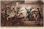 The Cato Street Conspirators, pub. by G. Humphrey, 9th March 1820 (coloured litho) Fine Art Print by French School