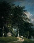 Stourhead, Wilts (oil on canvas) Fine Art Print by Julien Jacottet