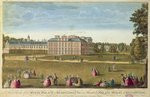 A Front View of the Royal Palace of Kensington, c.1812 (coloured etching) Fine Art Print by John Buckler