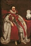 King James I of England and VI of Scotland, 1621 (oil on canvas) Wall Art & Canvas Prints by John de Critz