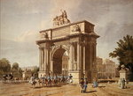 View of Wellington Arch (aquatint) Wall Art & Canvas Prints by Thomas Uwins