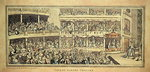 Covent Garden Theatre, 1786 (pen and ink with wash on paper) Fine Art Print by William Hogarth