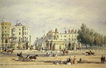 Grosvenor Gate and the New Lodge, 1851 (w/c on paper) Wall Art & Canvas Prints by English School
