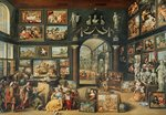 The Studio of Apelles (oil on panel) Postcards, Greetings Cards, Art Prints, Canvas, Framed Pictures & Wall Art by Anonymous