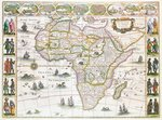 Africa Nova, c.1617 (colour engraving) Postcards, Greetings Cards, Art Prints, Canvas, Framed Pictures, T-shirts & Wall Art by Guillaume Delisle