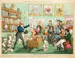 Calves' Heads and Brains; or a Phrenological Lecture, 1826 (colour etching) Wall Art & Canvas Prints by William Hogarth
