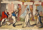 The Interview or Miss out of her Teens, 1816 (colour etching) Fine Art Print by James Gillray