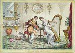 Harmony before Matrimony, 1805 (colour engraving) Wall Art & Canvas Prints by Nicolas Arnoult