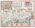 Sussex, engraved by Jodocus Hondius Poster Art Print by English School