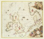Map of the North Sea, c.1675 (hand coloured engraving) Wall Art & Canvas Prints by English School