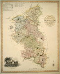A New Map of the County of Buckinghamshire, 1816 (colour litho) Postcards, Greetings Cards, Art Prints, Canvas, Framed Pictures, T-shirts & Wall Art by English School