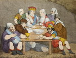 Banditti, 1783 (hand-coloured engraving) Wall Art & Canvas Prints by James Gillray