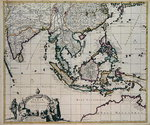 Map of India and the East Indies Fine Art Print by Guillaume Delisle