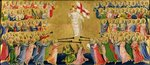 Christ Glorified in the Court of Heaven, 1423-24 (tempera on panel) (for detail see 90799) Fine Art Print by Giotto di Bondone