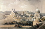 """The Citadel of Cairo, Residence of Mehmet Ali, from """"Egypt and Nubia"""", Vol.3, 1838 (colour litho) Wall Art & Canvas Prints by Carl Haag"""
