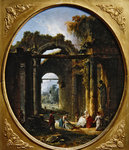 Ancient ruins in Rome Poster Art Print by Thomas Couture