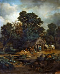Peasant landscape Fine Art Print by Abraham Furnerius