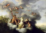 Ceres, Bacchus, Venus and Cupid Fine Art Print by Francois Boucher