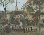 Pleasure Gardens at Montmartre, 1886 (oil on canvas) Postcards, Greetings Cards, Art Prints, Canvas, Framed Pictures, T-shirts & Wall Art by Henri de Toulouse-Lautrec
