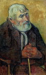 Portrait of an Old Man with a Stick, 1889-90 Fine Art Print by Paul Cezanne