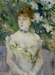 Young girl in a ball gown, 1879 (oil on canvas) Fine Art Print by Edouard Manet