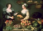 The Fruit and Vegetable Seller Fine Art Print by Claire Spencer