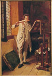 The Flute Player (oil on canvas) Wall Art & Canvas Prints by Italian School