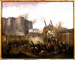 The Taking of the Bastille, 14th July 1789 Fine Art Print by Lesueur Brothers