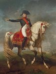 Equestrian Portrait of Napoleon I (1769-1821) 1810 (oil on canvas) Fine Art Print by Kuzma Sergeevich Petrov-Vodkin