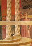 The Presentation of Mary in the Temple, 1433-34 (fresco) (detail) Fine Art Print by English School