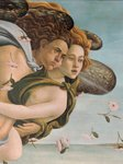 Zephyr and Chloris, detail from The Birth of Venus, c.1485 Fine Art Print by Sandro Botticelli