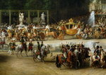 The Entry of Napoleon (1769-1821) and Marie-Louise (1791-1847) into the Tuileries Gardens on the Day of their Wedding, 2nd April 1810 (oil on canvas) (detail) (see also 19847 & 335481) Wall Art & Canvas Prints by French School