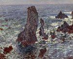 The Rocks at Belle-Ile, 1886 Fine Art Print by Claude Monet