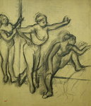 Three Dancers, c.1900 (charcoal on paper) Wall Art & Canvas Prints by Edgar Degas
