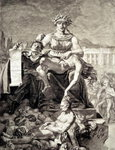 Allegory of the Terror (engraving) Fine Art Print by French School