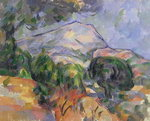 Montagne Sainte-Victoire au-dessus de la route du Tholonet, c.1904 Wall Art & Canvas Prints by Paul Cezanne